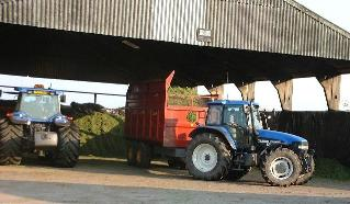 Northumberlandfarmhouse silage making